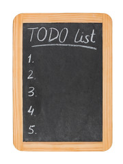 To do list on chalk board