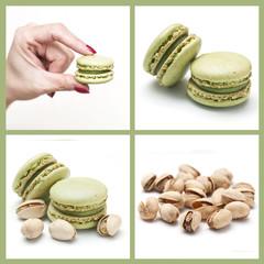 composition macarons pistaches