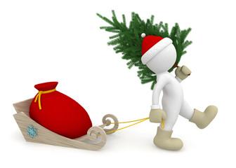 Santa Claus brings gifts