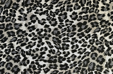 Grey and black leopard pattern.Spotted animal print background.
