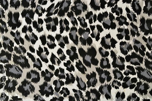 Grey and black leopard pattern.Spotted animal print background. - 73573501