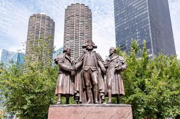 George Washington, Robert Morris, Hyam Salomon Memorial,Chicago