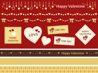 バレンタイン 装飾 赤