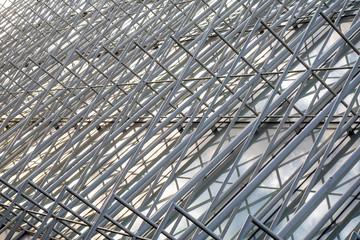 Struttura a tralicci di una costruzione moderna