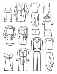 Contours of women's household  clothing