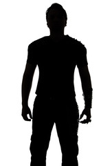 Photo of the young man's silhouette