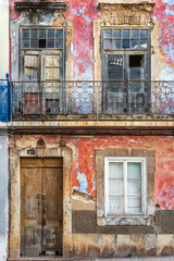 Old building facade in Olhao