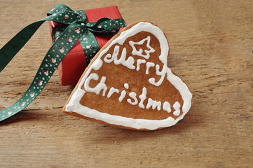 cute cookie and small gift for Christmas