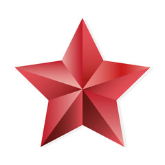 Star ruby vector isolated object