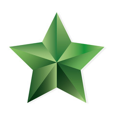 Emerald star vector isolated object