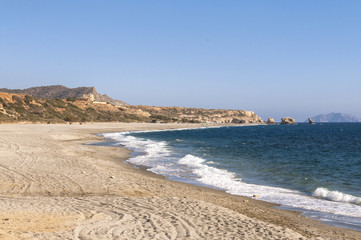 Triopetra has been named after the three rocks in the sea