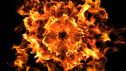 Fiery explosive particles
