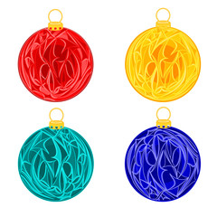 Christmas decoration baubles  vector