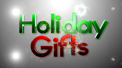 Christmas gifts on TEXT background 1