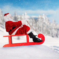 Santa Claus on sledge
