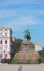Monument of famous Ukrainian Hetman Bogdan Khmelnitsky in Kiev,