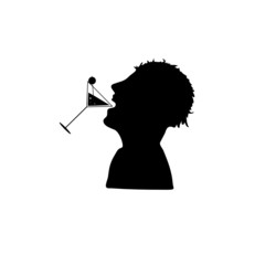 icon silhouette for drinking vector
