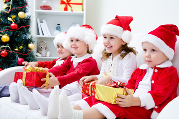 Funny christmas children