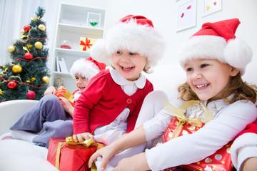 Funny christmas children
