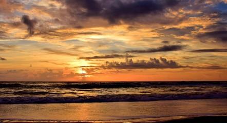 Calm Seas at Cloudy Dawn