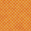 canvas print picture - Orange and White Shell Tiles Pattern Repeat Background