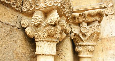 Detale arquitectónico,iglesia de Porqueres, Girona