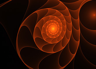abstract fractal spirals background