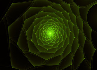 bright green fractal flower