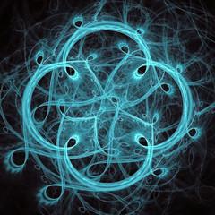 lighting blue fractal flower