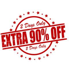 Extra ninety percent off