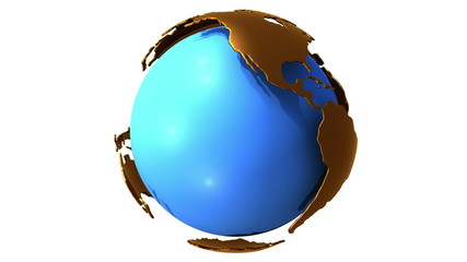 Earth planet globe rotates