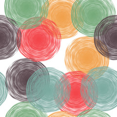 abstract seamless background with hand drawn pastel circles