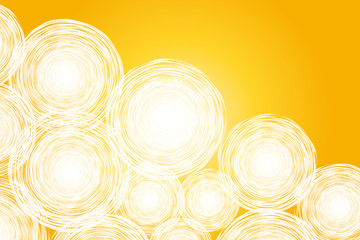 abstract yellow background with hand drawn white circle