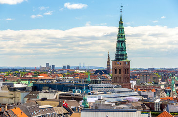 View of Copenhagen from The Round Tower
