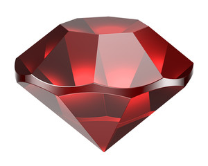 Red diamond on a white background