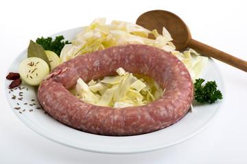 Bratwurst- roh