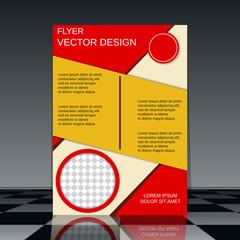 Flyer vector template