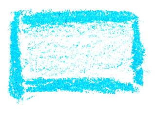 photo grunge blue wax pastel crayon spot isolated