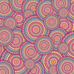 Pink Bubble Mandala Pattern