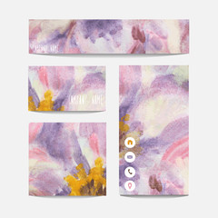 Watercolor business templates