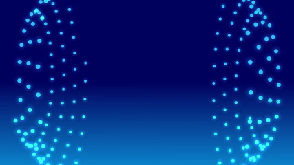 abstract loop motion background, blue particle form