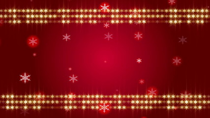 red background and frame snowflake, loop