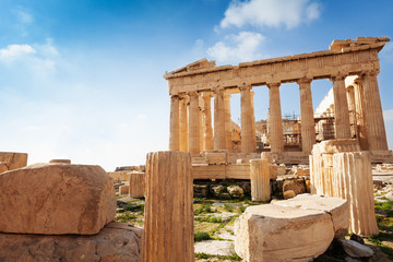 Acropolis of Athens in Greece during summer