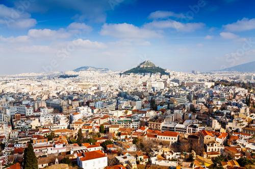 Fotobehang Athene Panorama of Athens, Greece