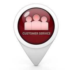 Customer service pointer icon on white background