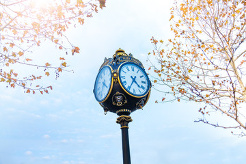 Clock in Parcul Unirii park, Bucharest, Romania