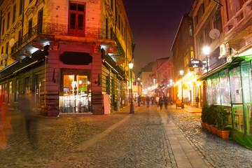 Strada Eelari street in Bucharest, Romania