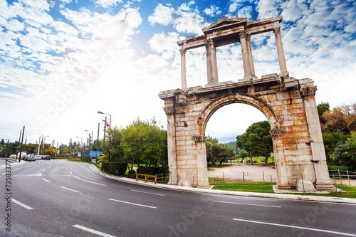 Arch of Hadrian, Leoforos Vasilisis Amalias road
