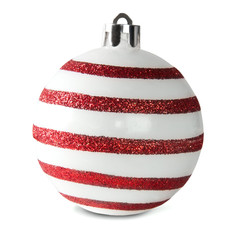 Red And White Christmas Ball
