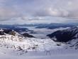 canvas print picture - Alpen und wintersportregion in Österreich